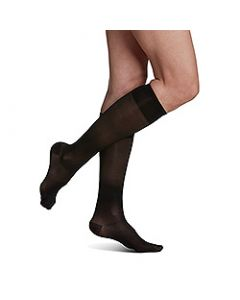 Small Image Sigvaris Sheer 120C Black Knee-High Compression Socks