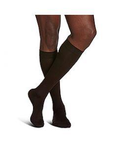 Small Image Sigvaris Mens Sea Island 191C Brown Knee-High Compression Socks 15-20 mmHg