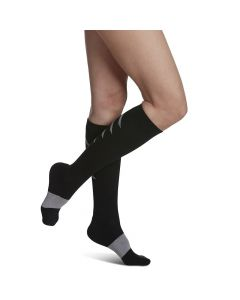 Small Image Sideview Athletic Recovery Sock in Black