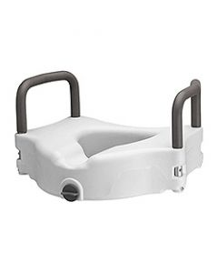 """Small Image 5"""" Locking Toilet Seat Riser With Removable Arms"""